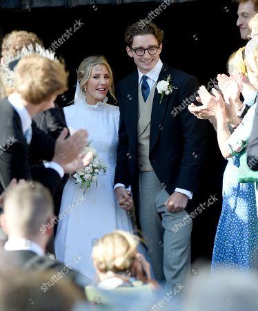 Wedding of Ellie Goulding and Caspar Jopling. York Minster.