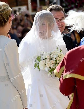 Bride Ellie Goulding arrives at church