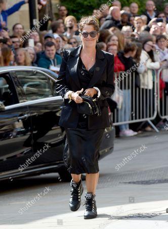Tracey Emin arrives at church
