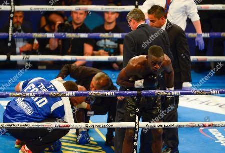Stock Photo of Joshua Buatsi vs Ryan Ford during their WBA International Light-Heavyweight Championship fight