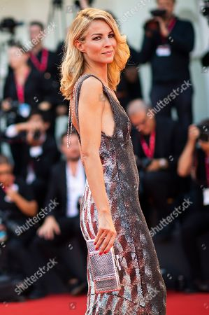Roberta Ruiu poses for photographers upon arrival at the premiere of the film 'Joker' at the 76th edition of the Venice Film Festival, Venice, Italy