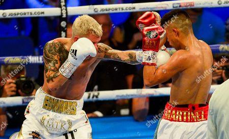 Charlie Edwards vs Julio Cesar Martinez during their WBC World Flyweight Championship fight