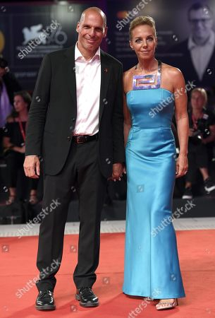 Greek economist, academic and politician, Yanis Varoufakis (L) and Danae Stratou arrive for the premiere of 'Adults in the Room' during the 76th annual Venice International Film Festival, in Venice, Italy, 31 August 2019. The movie is presented in out of competition at the festival running from 28 August to 07 September.