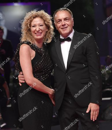 Stock Image of Francesco Acquaroli with his wife Barbara Esposito arrive for the premiere of 'Adults in the Room' during the 76th annual Venice International Film Festival, in Venice, Italy, 31 August 2019. The movie is presented in out of competition at the festival running from 28 August to 07 September.