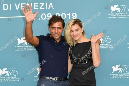 Adriano Giannini and Micaela Ramazzotti