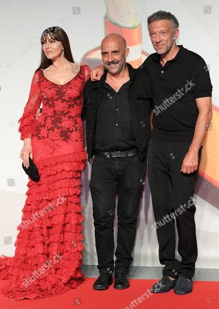 Monica Bellucci, Gaspar Noe and Vincent Cassel
