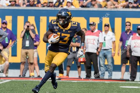 West Virginia wide receiver Sam James (13) during the first half/second half of an NCAA college football game, in Morgantown, W.Va