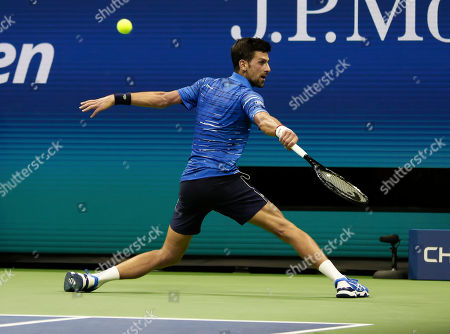 Novak Djokovic (SRB) in action during his third round match against Denis Kudla (USA)