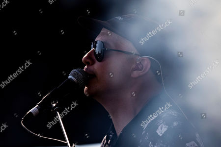 Stock Picture of Stuart Braithwaite of Mogwai performs on stage during the Daydream Festival at the Rose Bowl in Pasadena, California, USA, 31 August 2019. The festival only runs for one day.