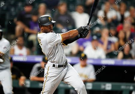 Starling marte, r m. Pittsburgh Pirates' Starling Marte connects for an RBI single off Colorado Rockies relief pitcher Sam Howard in the ninth inning of a baseball game, in Denver. Pittsburgh won 11-4