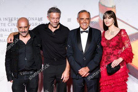 Gaspar Noe, Vincent Cassel, Alberto Barbera and Monica Bellucci