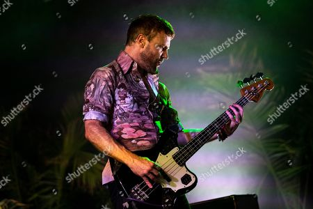 Stock Picture of Rhydian Dafydd of The Joy Formidable performs on stage during the Daydream Festival at the Rose Bowl in Pasadena, California, USA, 31 August 2019.
