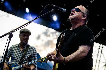 Joey Santiago (L) and Black Francis (R) of The Pixies perform on stage during the Daydream Festival at the Rose Bowl in Pasadena, California, USA, 31 August 2019.