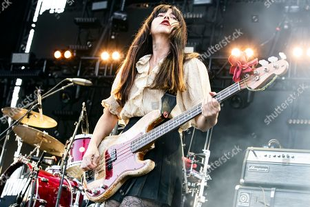Paz Lenchantin of The Pixies performs on stage during the Daydream Festival at the Rose Bowl in Pasadena, California, USA, 31 August 2019.