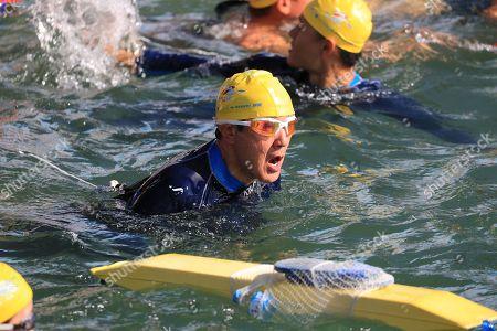 Editorial photo of Sun Moon Lake Swimming Carnival in Taiwan, Nantou County - 01 Sep 2019