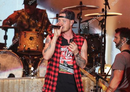 Tyler Hubbard with Florida Georgia Line performs during the Can't Say I Ain't Country Tour at Cellairis Amphitheatre at Lakewood, in Atlanta