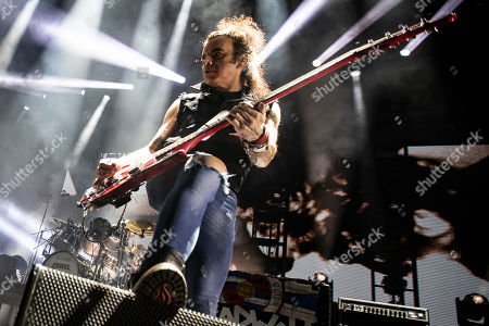 Simon Gallup of the band The Cure performs on stage during the Daydream Festival at the Rose Bowl in Pasadena, California, USA, 31 August 2019. The festival only runs for one day.