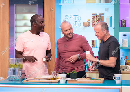 Linford Christie, Simon Rimmer and Tim Lovejoy