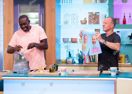 Stock Image of Linford Christie and Tim Lovejoy