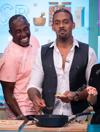 Richard Blackwood and Linford Christie