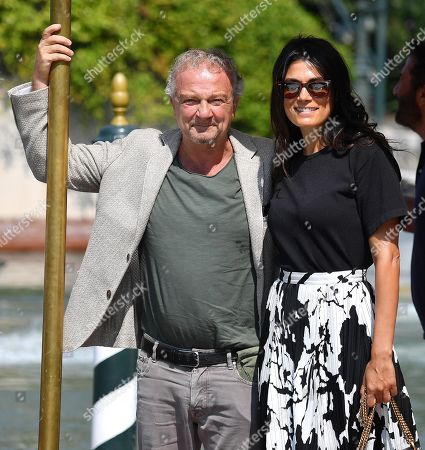 Giovanni Veronesi (L) with his wife Italian actress Valeria Solarino arrive at the Lido Beach for the 76th annual Venice International Film Festival, in Venice, Italy, 01 September 2019. The festival runs from 28 August to 07 September.