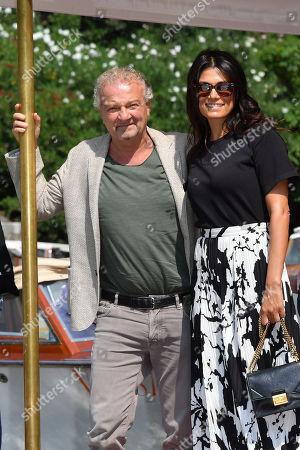 Valeria Solarino, Giovanni Veronesi arrives at the Lido Beach