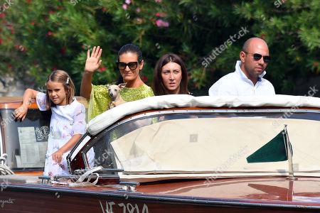Veronica Bocelli, Virginia Bocelli arrive at the Lido Beach