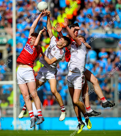 Cork vs Galway . Cork's Luke Murphy and Jack Lawton with James Webb and James McLaughlin of Galway