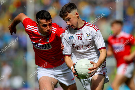 Stock Picture of Cork vs Galway . Cork's Joseph O'Shea with Nathan Grainger of Galway