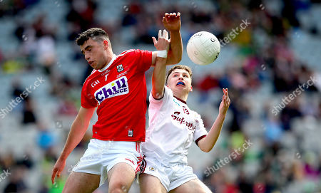 Stock Photo of Cork vs Galway . Galway's Nathan Grainger and Joseph O'Shea of Cork