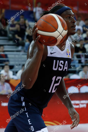 Myles Turner of USA in action during the FIBA Basketball World Cup 2019 group E first ?round? match between Czech Republic and USA in Shanghai, China, 01 September 2019.