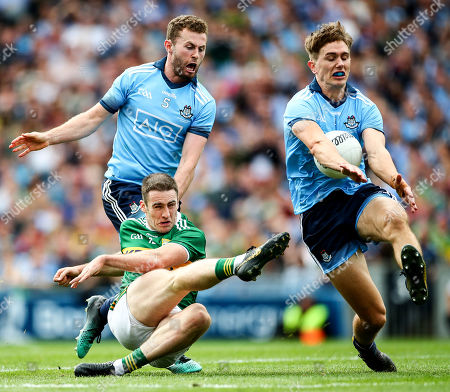 Dublin vs Kerry. Kerry's Stephen O'Brien with Jack McCaffrey and Michael Fitzsimons of Dublin