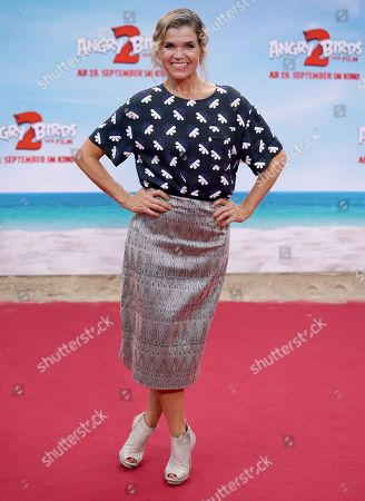 Anke Engelke attends the Germany premiere of the movie Angry Birds 2 in Berlin, Germany, 01 September 2019.