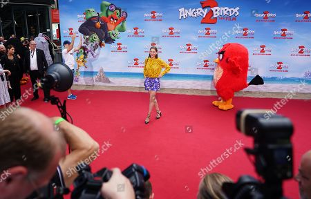 Christiane Paul (C) attends the Germany premiere of the movie Angry Birds 2 in Berlin, Germany, 01 September 2019.