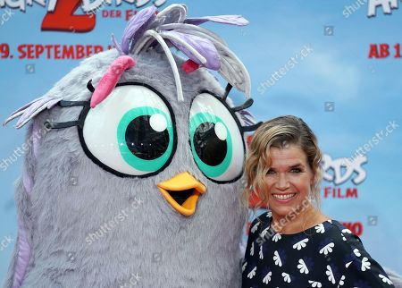 German comedian and voice actor Anke Engelke attends the German premiere of the movie 'Angry Birds 2' in Berlin, Germany, 01 September 2019.