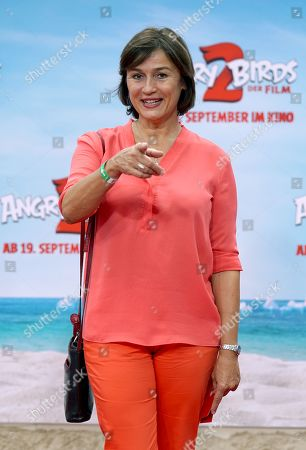 German journalist Sandra Maischberger attends the German premiere of the movie 'Angry Birds 2' in Berlin, Germany, 01 September 2019.