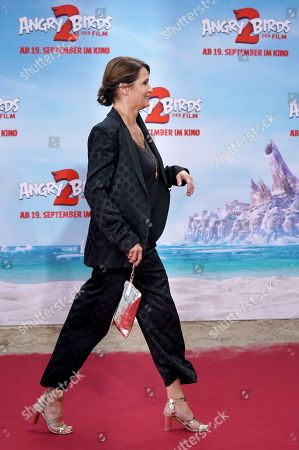 Stock Picture of Anja Kling attends the German premiere of the movie 'Angry Birds 2' in Berlin, Germany, 01 September 2019.