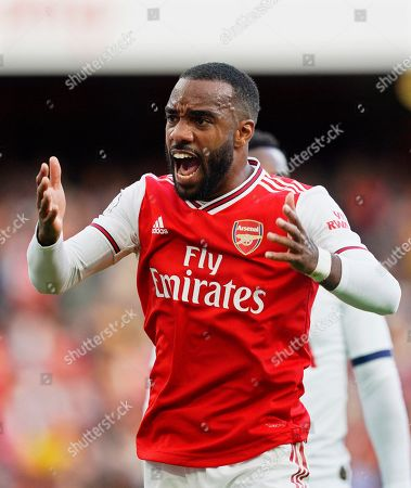 Arsenal's Alexandre Lacazette reacts during the English Premier League soccer match between Arsenal FC and Tottenham Hotspur in London, Britain, 01 September 2019.