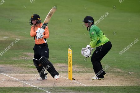 Danielle Wyatt of Southern Vipers batting during the Kia Women's Cricket Super League Final match between Western Storm and Southern Vipers at the 1st Central County Ground, Hove