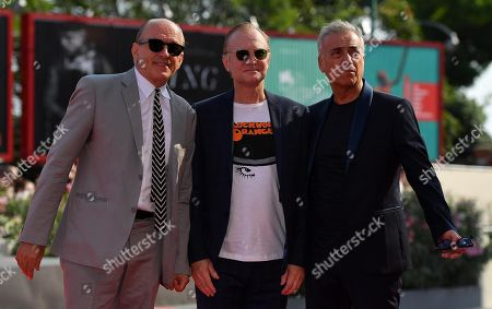 Massimo Ghini (R), US-Italian actor Tomas Arana (L) and Danish actor Ulrich Thomsen arrive for a premiere of 'The new Pope (Episodi 2 e 7)' during the 76th annual Venice International Film Festival, in Venice, Italy, 01 September 2019. The movie is presented in out of competition at the festival running from 28 August to 07 September.