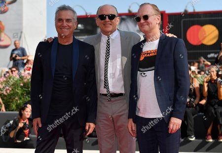 Massimo Ghini (L), US-Italian actor Tomas Arana (C) and Danish actor Ulrich Thomsen arrive for a premiere of 'The new Pope (Episodi 2 e 7)' during the 76th annual Venice International Film Festival, in Venice, Italy, 01 September 2019. The movie is presented in out of competition at the festival running from 28 August to 07 September.