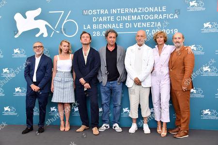 Silvio Orlando, Ludivine Sagnier, Jude Law, Paolo Sorrentino, John Malkovich, Cecile de France and Javier Camara