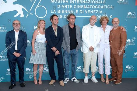 Silvio Orlando, Ludivine Sagnier, Jude Law, Paolo Sorrentino, John Malkovich, Cecile de France and Javier Camara.