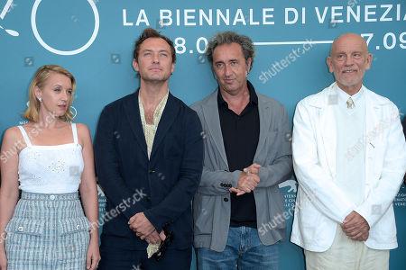Ludivine Sagnier, Jude Law, Paolo Sorrentino and John Malkovich