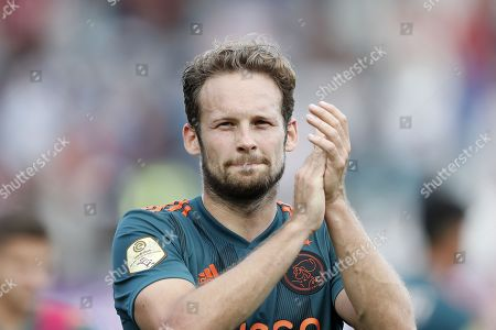 Daley Blind of Ajax reacts during the Dutch Eredivisie soccer match between Sparta Rotterdam and Ajax in Rotterdam, the Netherlands, 01 September 2019.
