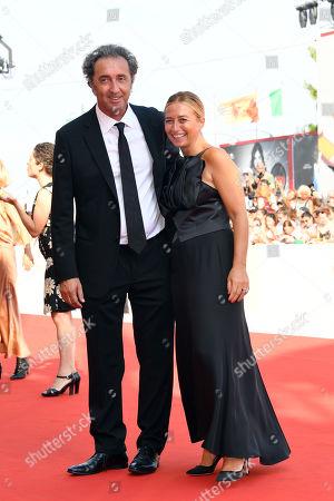 Stock Image of Paolo Sorrentin and Daniela D'Antonio