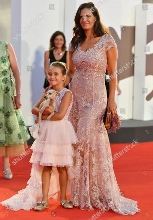 Veronica Berti and her daughter Virginia Bocelli arrive for a premiere of 'The Laundromat' during the 76th annual Venice International Film Festival, in Venice, Italy, 01 September 2019. The movie is presented in official competition 'Venezia 76' at the festival running from 28 August to 07 September.
