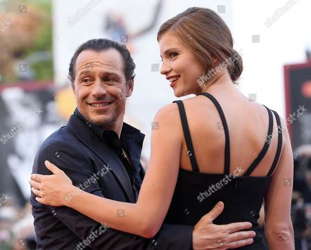 Stefano Accorsi (L) and his wife Bianca Vitali arrive for the premiere of 'The Laundromat' during the 76th annual Venice International Film Festival, in Venice, Italy, 01 September 2019. The movie is presented in official competition 'Venezia 76' at the festival running from 28 August to 07 September.