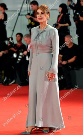 Elena Sofia Ricci arrives for a premiere of 'The Laundromat' during the 76th annual Venice International Film Festival, in Venice, Italy, 01 September 2019. The movie is presented in official competition 'Venezia 76' at the festival running from 28 August to 07 September.