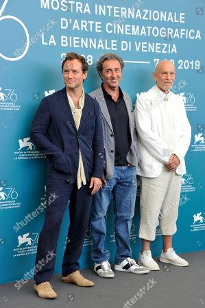Jude Law, Paolo Sorrentino and John Malkovich
